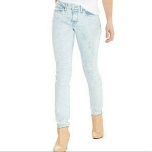 Levi's 711 Skinny Acid Wash Light Blue Jeans 30x32